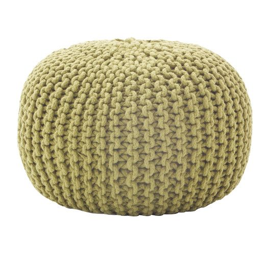 Comfort Research Rope Knit Pouf Ottoman   AllModern - Best 25+ Knitted Pouf Ideas On Pinterest Knitted Pouffe, Large