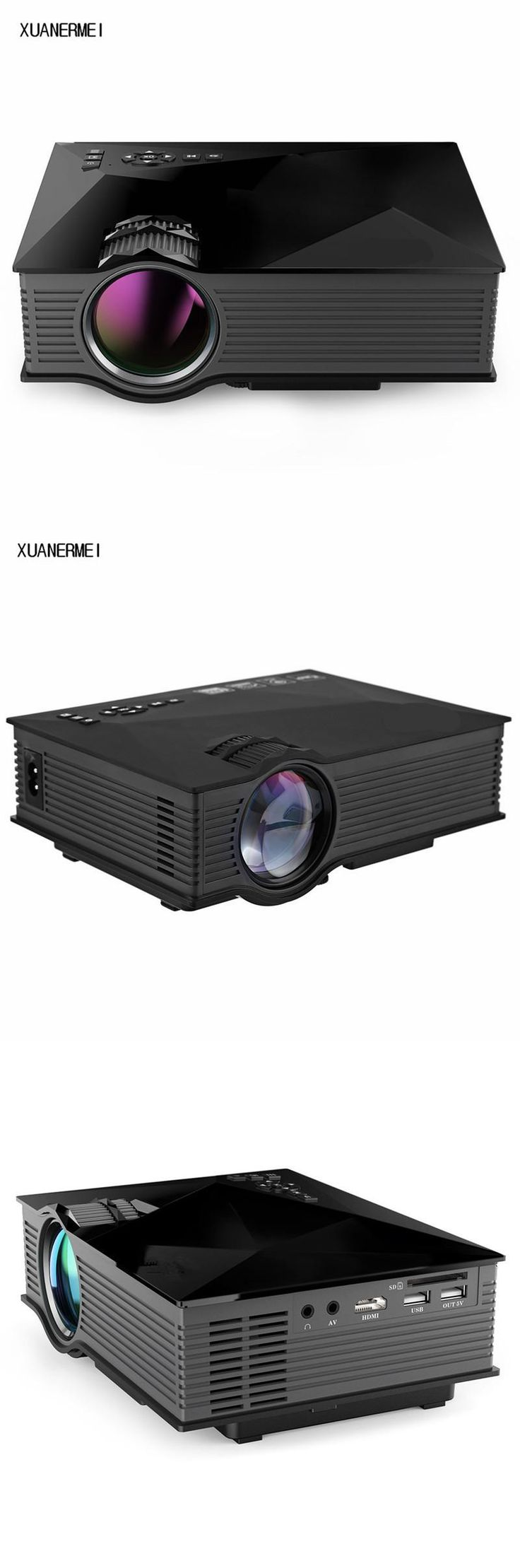 [Visit to Buy] XUANERMEI UC46 MINI Portable LED Projector For Video Games TV Home Theater Movie proyector Support HDMI VGA AV SD Free shipping #Advertisement