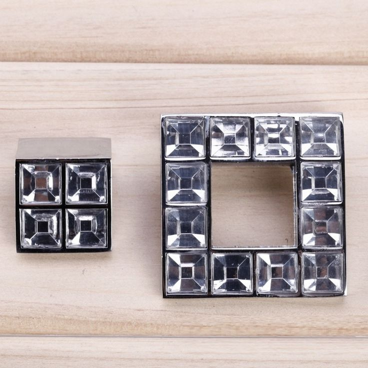 Unique Square Glass Cabinet Knobs