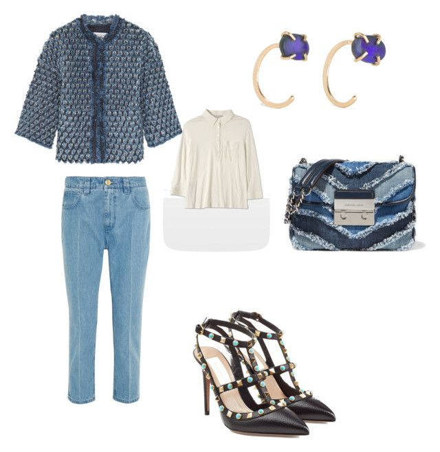 Denim mania by the925editor on Polyvore featuring Topshop Unique, MICHAEL Michael Kors and Melissa Joy Manning