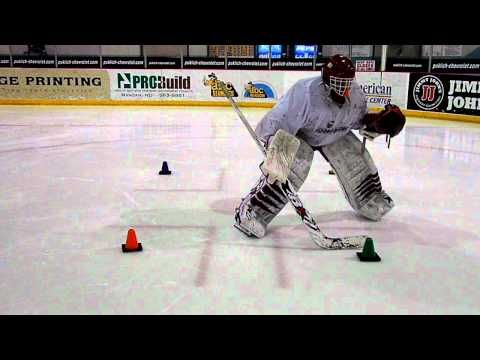 A drill meant to help goaltenders' develop the ability to move while in the butterfly. Goalrobber Drill of the Week #17