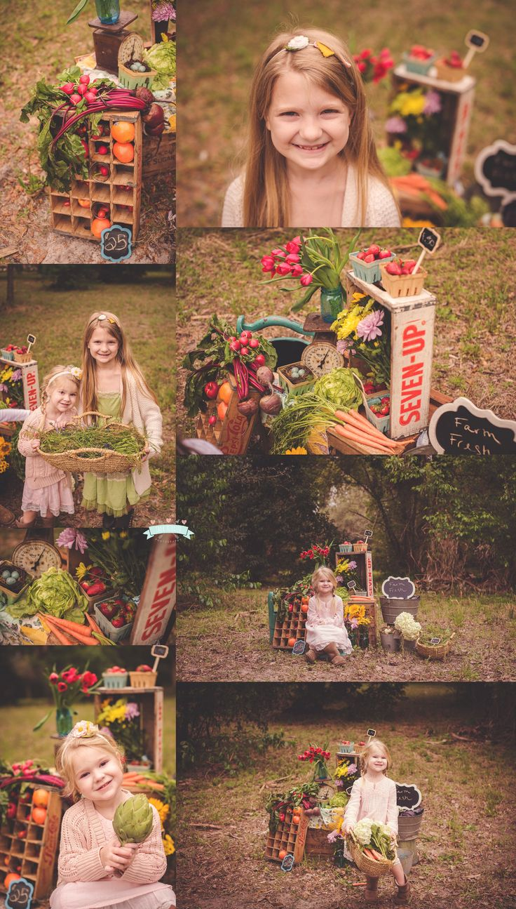 Farmer's Market Mini Session by Tara Merkler Photography, Central Florida Children's Photographer