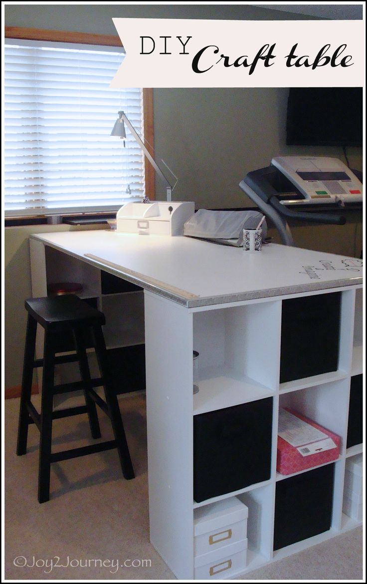 Diy craft room furniture - Diy Craft Table For More Organizing Tips Articles And Ideas Visit Www Aspacethatworks