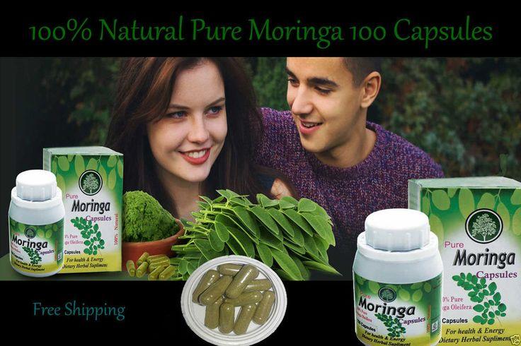 Pure Moringa Oleifera Extract Leaf Powder 100 Capsules Organic 100% Supplement  #Osethma