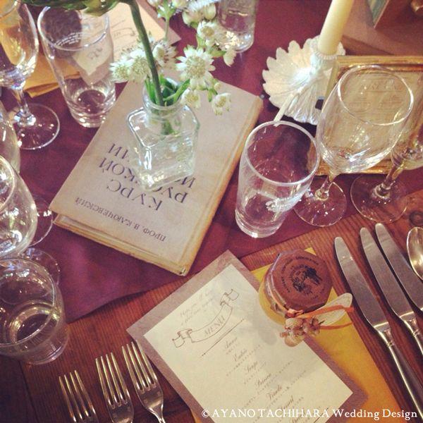 テーブル 東京ウエディングプロデュース karuizawa garden Wedding_ハワイウエディング_produced by AYANO TACHIHARA Wedding Design 軽井沢ガーデンウエディング、邸宅ウエディング