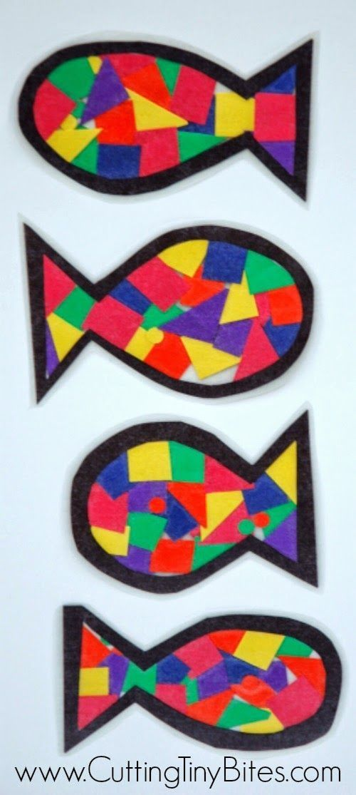 Rainbow Fish Craft.  Perfect for preschool or elementary ocean or fish theme week.  Simple and EASY!  Also shows how to turn this project into an ocean mobile.