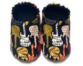 Rock and Roll Guitar pojkbaby Skor, Baby Booties,
