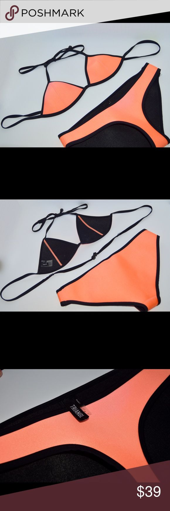 Triangl Bikini BOTTOMS Neon orange Triangl brand bikini BOTTOMS in perfect condition!   I will accept reasonable offers🤗 (sorry no trades) triangl swimwear Swim Bikinis