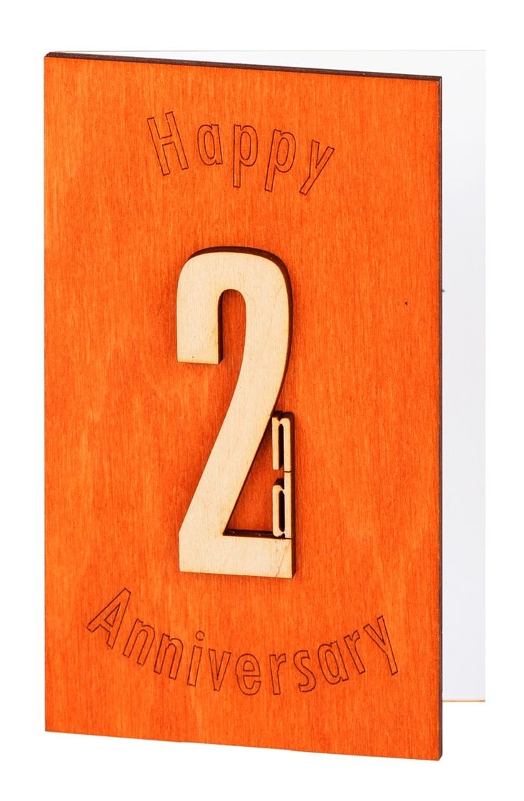 2nd Anniversary Card, Second Anniversary, 2nd Anniversary Gifts For Men, Wooden Card, Cotton Anniversary, 2nd Anniversary Cotton, Wood Work