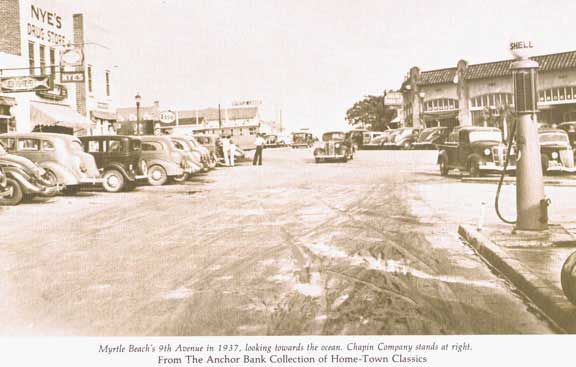 Old Pictures of Myrtle Beach SC | Myrtle Beach 9th Ave. 1937