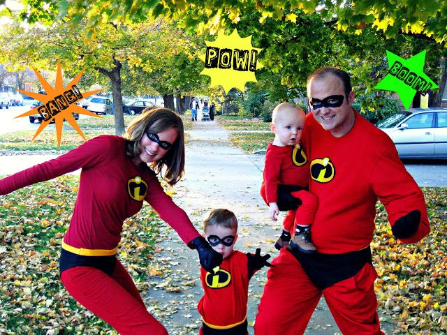 The Incredibles Family Halloween Costumes Tutorial