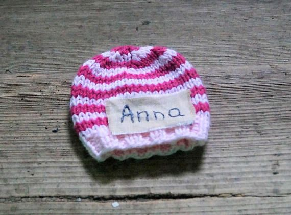 Personalized  hat newborn hat  newborn girl coming home hat