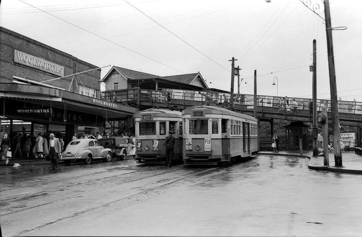 Photos of Chatswood Station 1958.