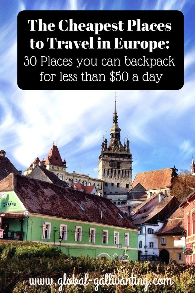 Europe is not known as the most budget friendly place to travel but, especially if you head to Eastern Europe, there are plenty of less visited and less expensive places to enjoy in Europe. Here are 30 places in Europe that you could backpack for less than $50 a day!