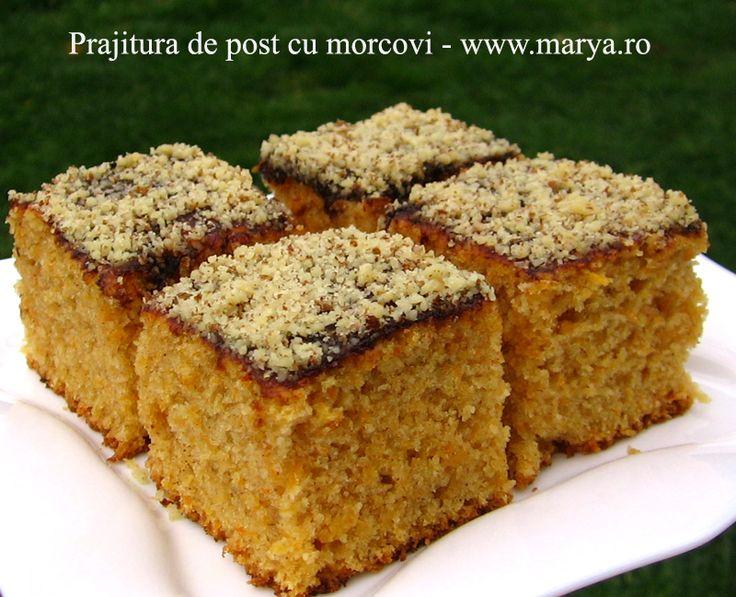 Marya.ro Prajitura de post cu morcovi | Culinar, Desert, Retete de post