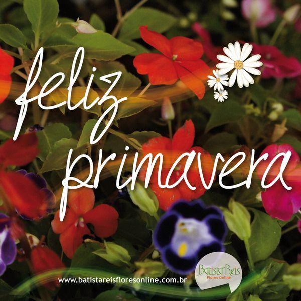 Feliz Primavera :: Batista Reis Flores Online #primavera #flor #estaçãodasflores #batistareisflores