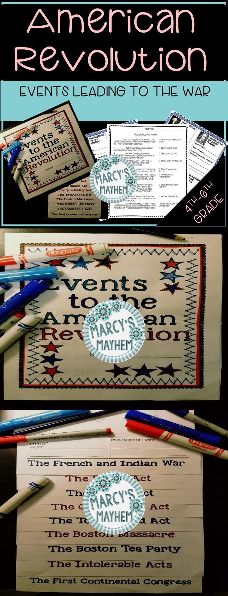 American revolution activitiesflip book american