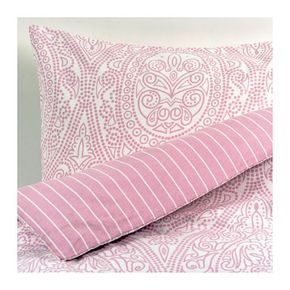 IKEA ÄRTTÖRNE Quilt cover and 2 pillowcases Pink 200x200/50x80 cm Cotton flannel feels soft against your skin and keeps you warm during cooler nights.