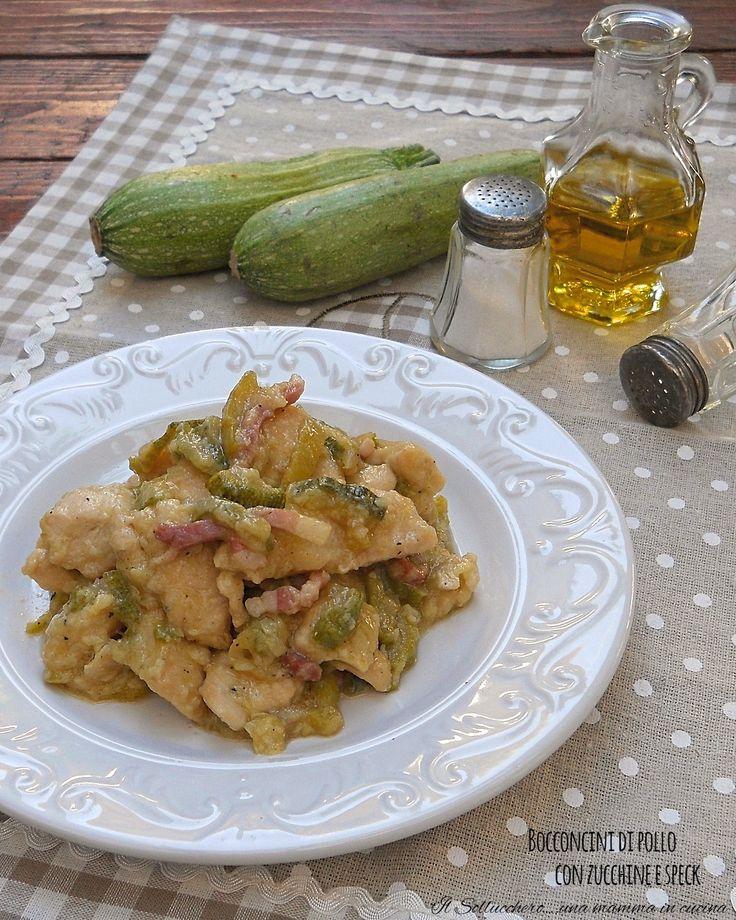 I bocconcini di pollo con zucchine e speck sono saporiti e cremosissimi; un secondo piatto gustoso ideale per tutta la famiglia.