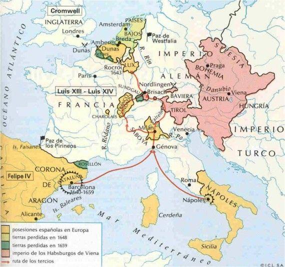 guerra 30 años mapa - Cerca amb Google