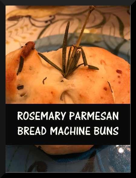 Rosemary Parmesan Bread MachineBuns on purelyhomespun.com  Posted April 3, 2018