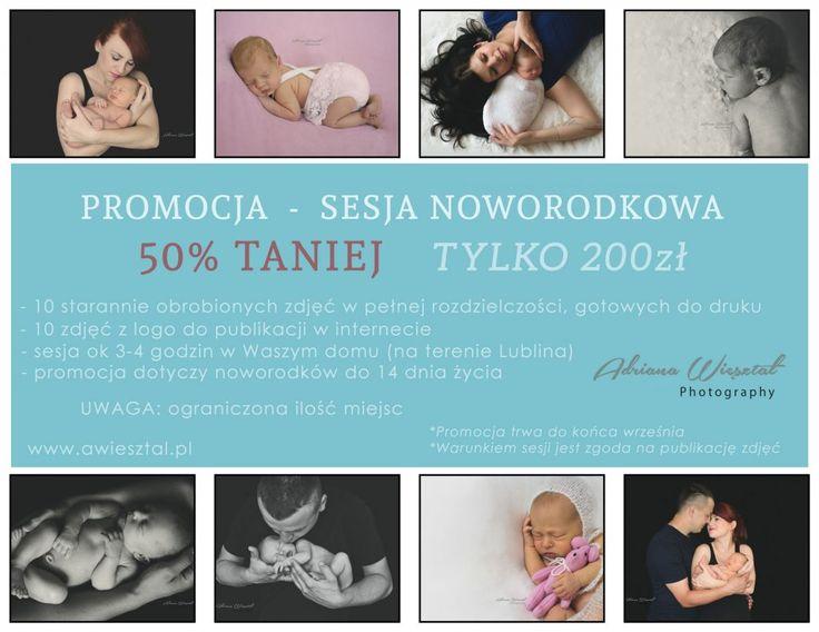Promocja dotyczy sesji noworodkowych w Lublinie zarezerwowanych do 30 września…