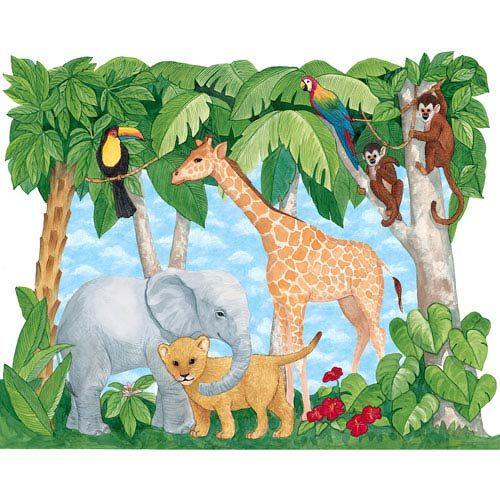 17 best images about daycare murals on pinterest jungle for Baby jungle mural