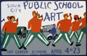 Public School Art, Sioux City Art Center / Made By Wpa Federal Art Project, Iowa. clip art - vector clip art online, royalty free & public d...