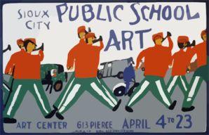 Public School Art, Sioux City Art Center / Made By Wpa Federal Art Project, Iowa. clip art - vector clip art online, royalty free & public d...