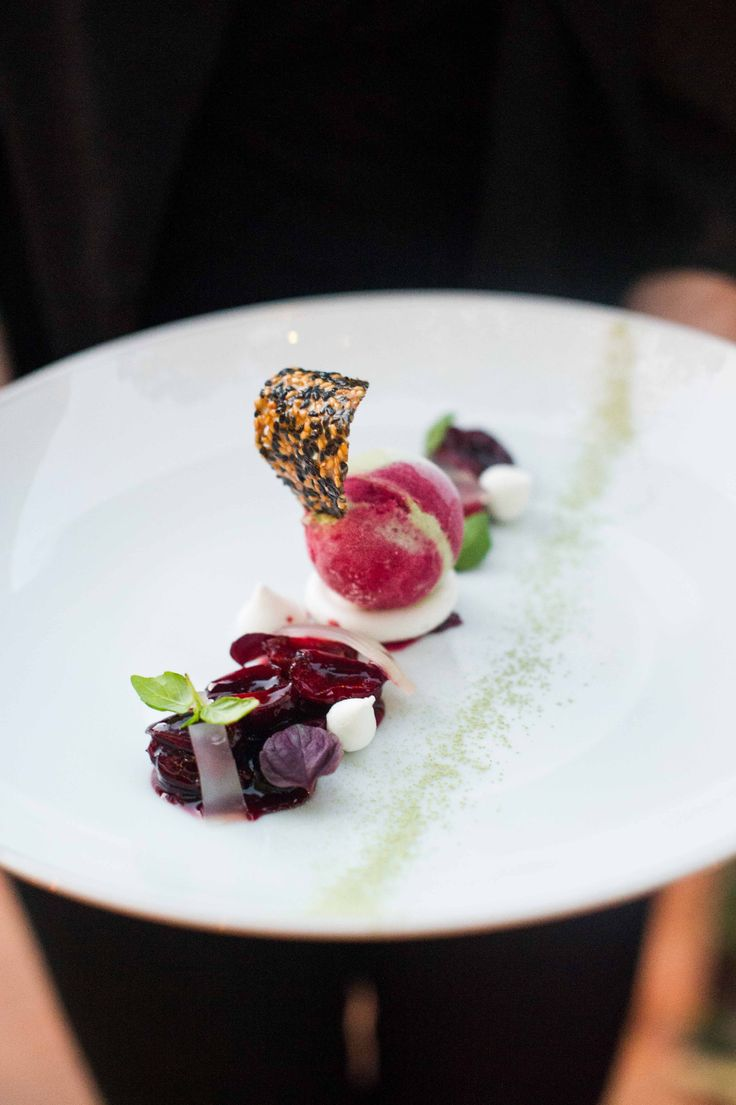 Bar with Bing Cherries, Matcha Green Tea Crumble, and Young Ginger Ice ...