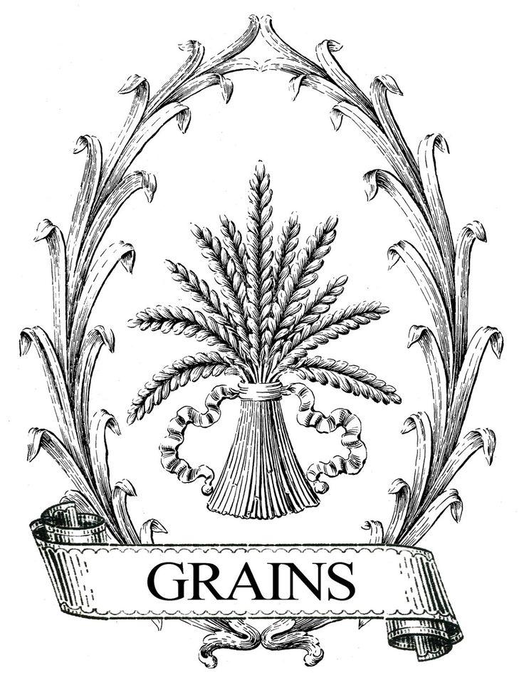 French Grain Sack Printable Image Transfer