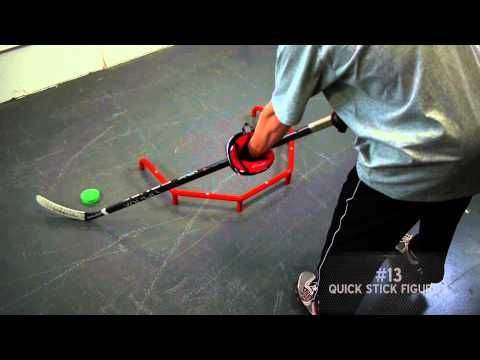Hockey Stick Handling: 10 drills to help improve your puck handling - YouTube