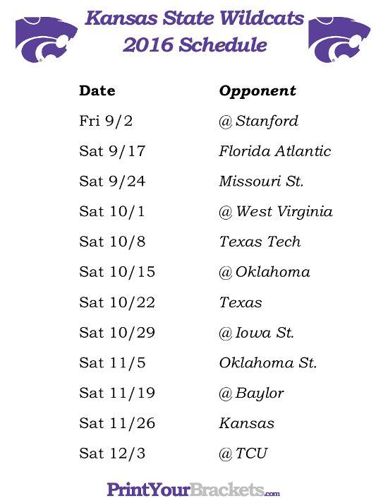 Printable Kansas State Wildcats Football Schedule 2016 https://www.fanprint.com/licenses/akron-zips?ref=5750