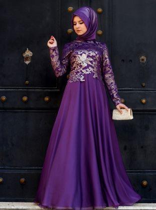 Evening Dress - Purple - Lâl By Hilal