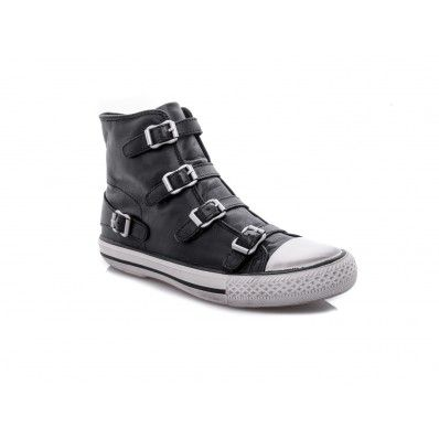 ASH - Sneakers Virgin buckles detail in soft leather black - Elsa-boutique.it <3