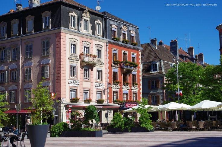 Belfort, façades colorées. | Territoire de belfort, Tourisme, Paysage