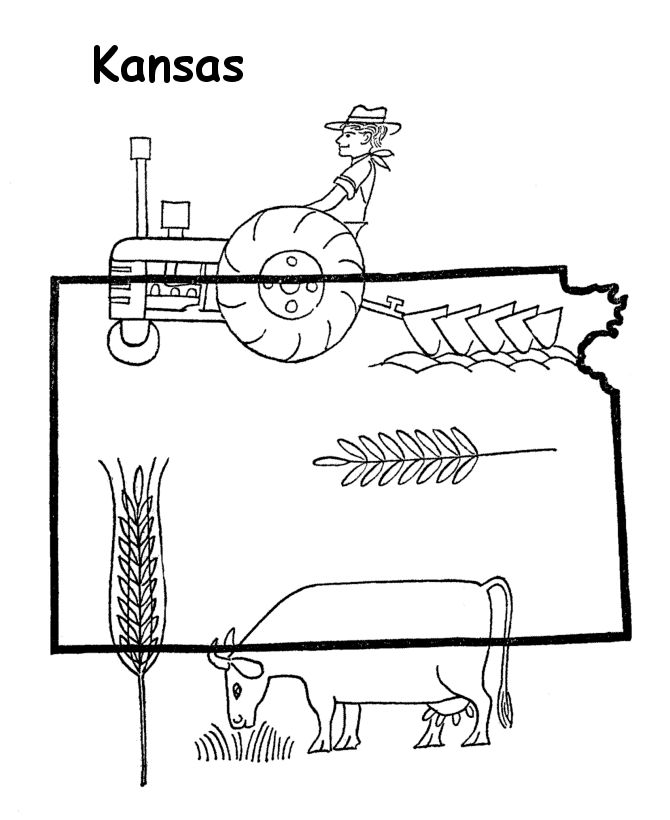 Willie The Wildcat Kansas State Coloring Page Coloring Pages