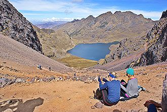 lares trail, beautiful land places in the andes mountain