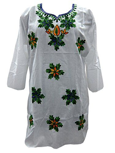 Boho Indian Kurta White Tunic Tops Floral Embroidered Cot... https://www.amazon.ca/dp/B06XZ7G6W8/ref=cm_sw_r_pi_dp_x_hppRzbKXAY3QQ #TUNIC #BOHO #FASHION #HIPPIE #SALE #WHITE #GIFT #BOHOHIPPIE #GIFTFORHER
