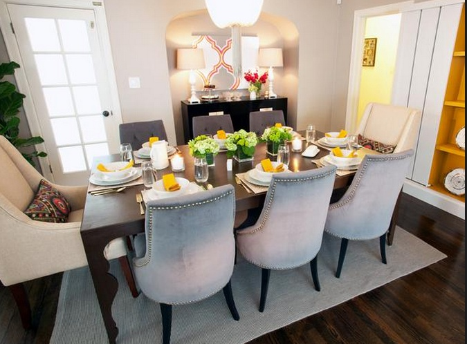 Traditional Dining Rooms From Casey Noble On HGTV Grey Chairs