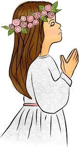 Znalezione obrazy dla zapytania komunia święta dziewczynka