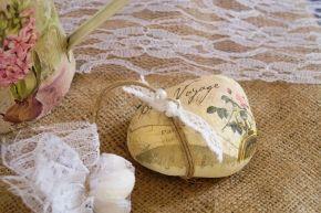 Μπομπονιέρα πέτρα με σχέδιο vintage