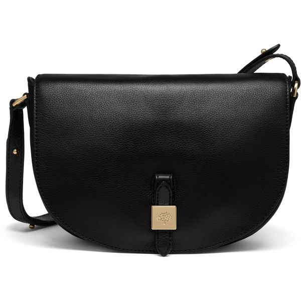 Mulberry Tessie Satchel ($895) ❤ liked on Polyvore featuring bags, handbags, black, black leather messenger bag, black leather handbags, leather courier bag, leather satchel purse and leather purse