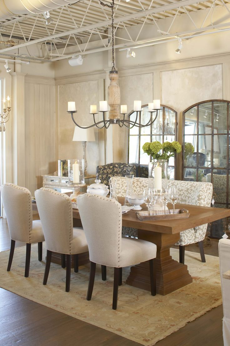 The Chic Technique:  Light, Bright and White Dining Room.