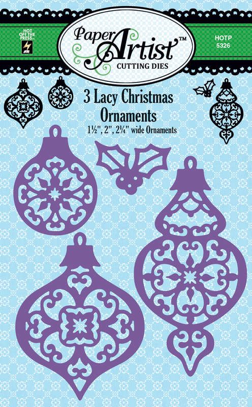 Lacy Christmas Ornaments Cutting Dies By Hot Off The Press