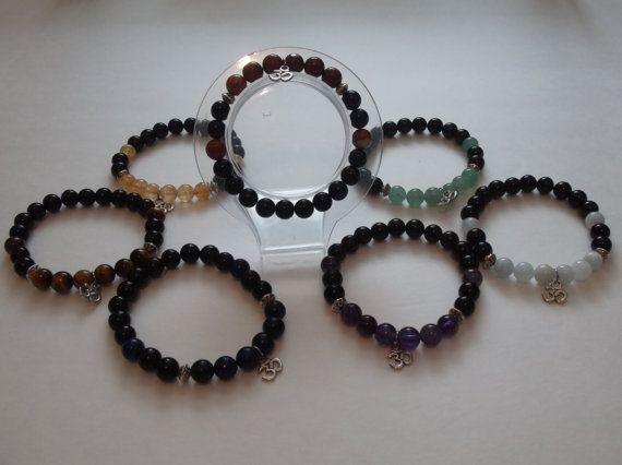 Set of 7 Obsidian Chakra Balancing Gemstone by HealingAuras