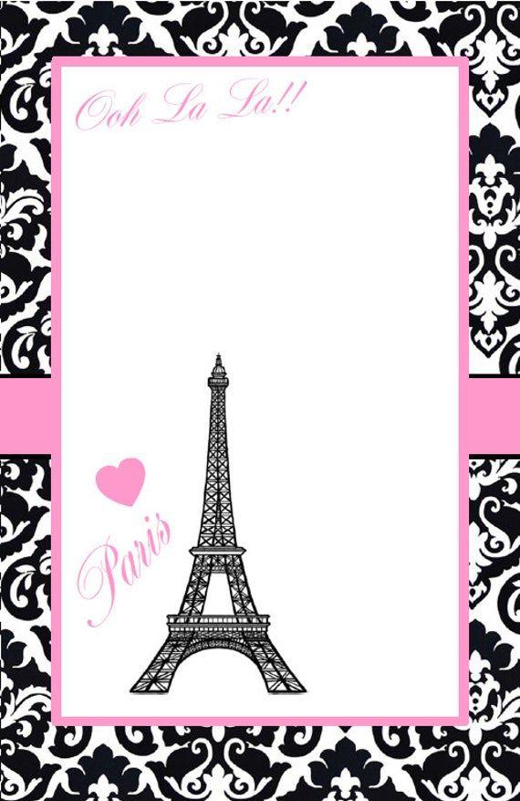 paris invitation bridal shower baby