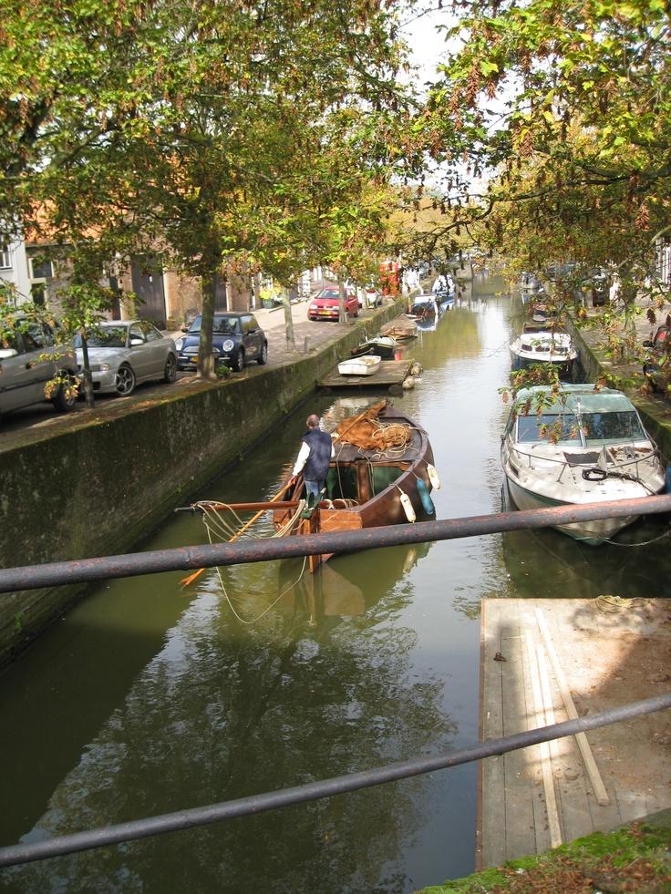 Enkhuizen, Netherlands, standing on the bridge