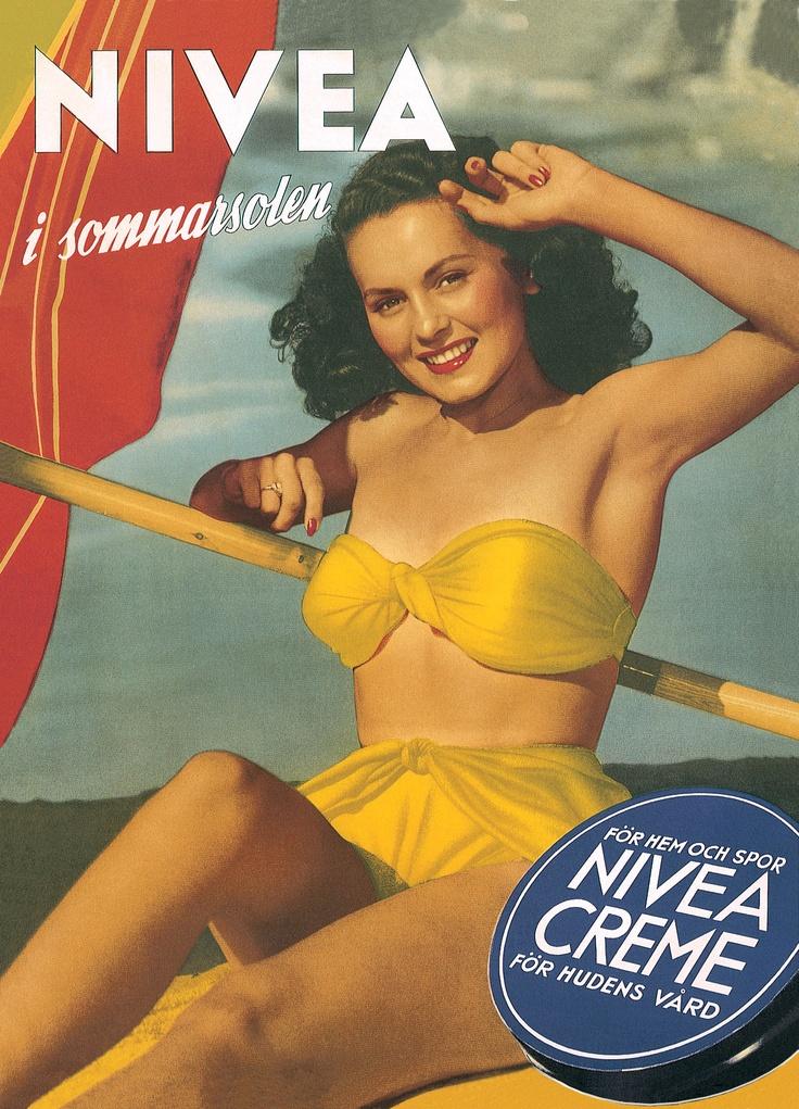 NIVEA Retroanzeige - 1943. #nivea #retro