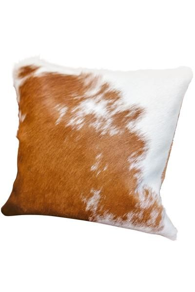 These gorgeous authentic cowhide pillows are sourced from tanneries in the South of Brazil, an area known for its exceptional cowhides due to the proper climate